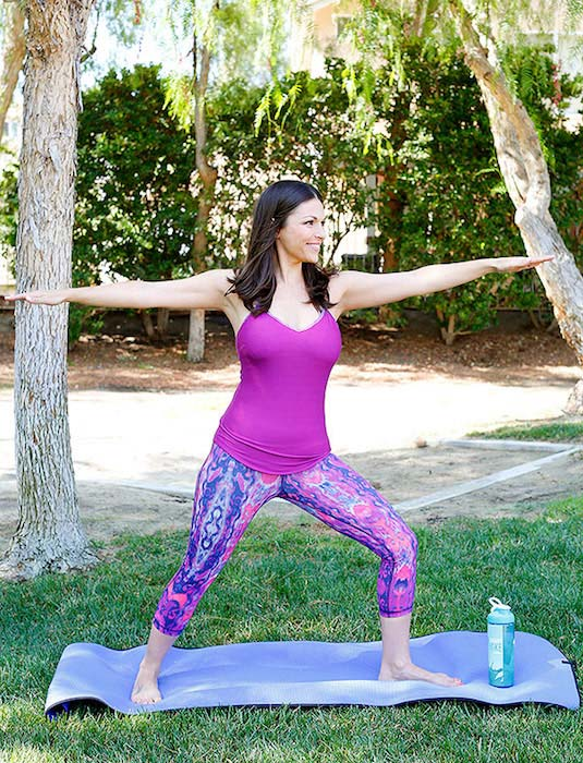 Deanna Pappas Stagliano working out