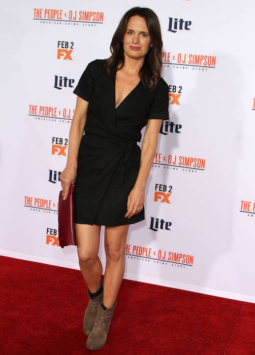"Elizabeth Reaser at ""The People v O.J. Simpson: American Crime Story"" premiere in January 2016"