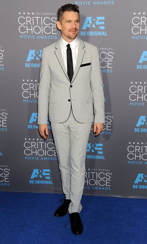 Ethan Hawke looks dashing in grey suit at the Critics Choice Awards 2015
