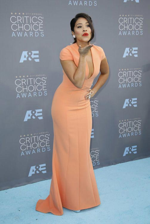 Gina Rodriguez at 2016 Critics Choice Awards in Santa Monica