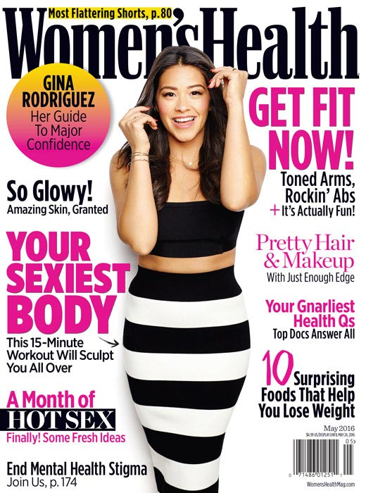 Gina Rodriguez Women's Health May 2016 cover