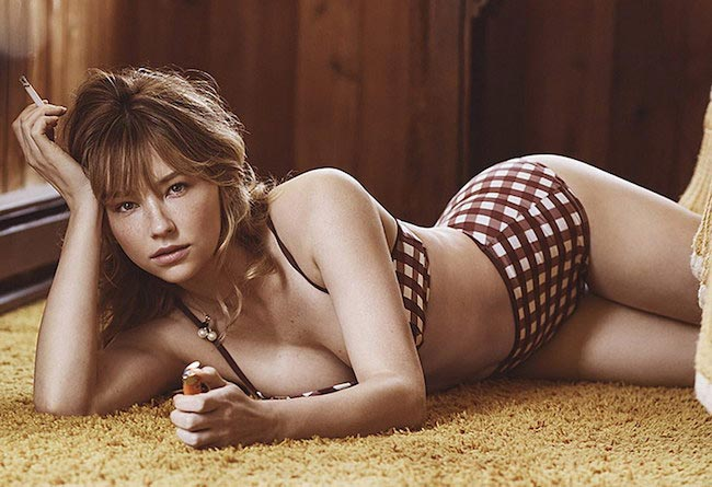 Haley Bennett bikini photoshoot for cover of Interview Magazine in 2016