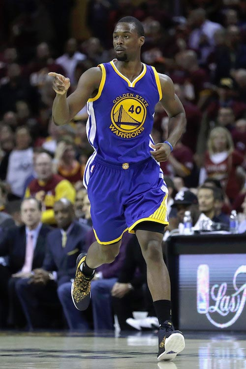 Harrison Barnes during Game 3 of the 2016 NBA Finals between Golden State Warriors and Cleveland Cavaliers on June 8, 2016