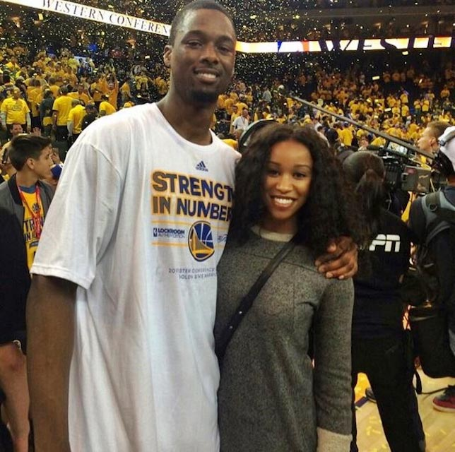 Harrison Barnes and Brittany Johnson in 2015
