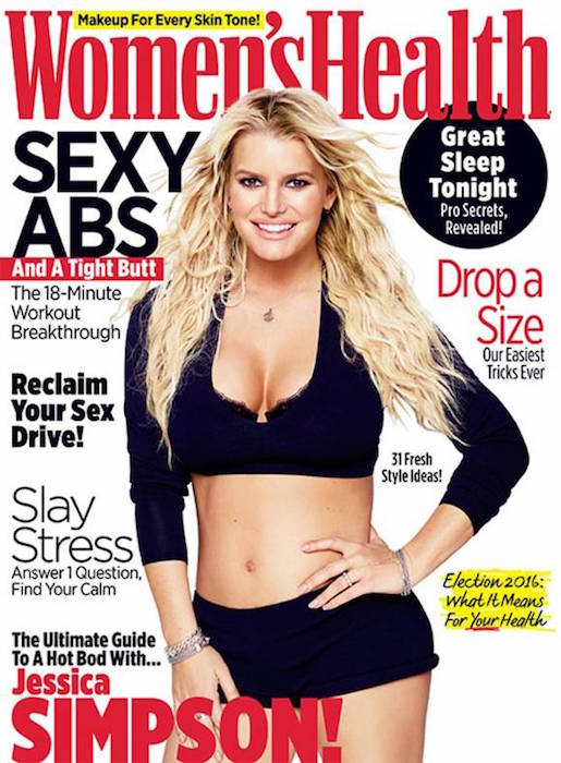 Jessica Simpson on the Women's Health September 2016 Cover