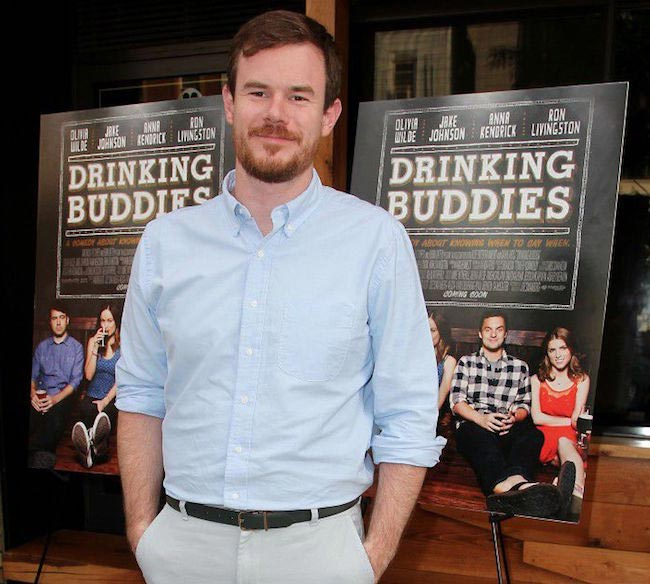 "Joe Swanberg at ""Drinking Buddies"" screening in Brooklyn in 2013"