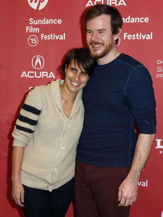 Joe Swanberg with wife Kris Swanberg at Sundance Film Festival 2015