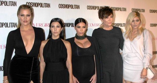 (From Left) Khloe Kardashian, Kourtney Kardashian, Kim Kardashian, Kris Jenner, Kylie Jenner