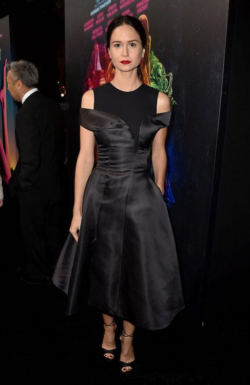 "Katherine Waterston during the premiere of ""Steve Jobs"" in 2015"