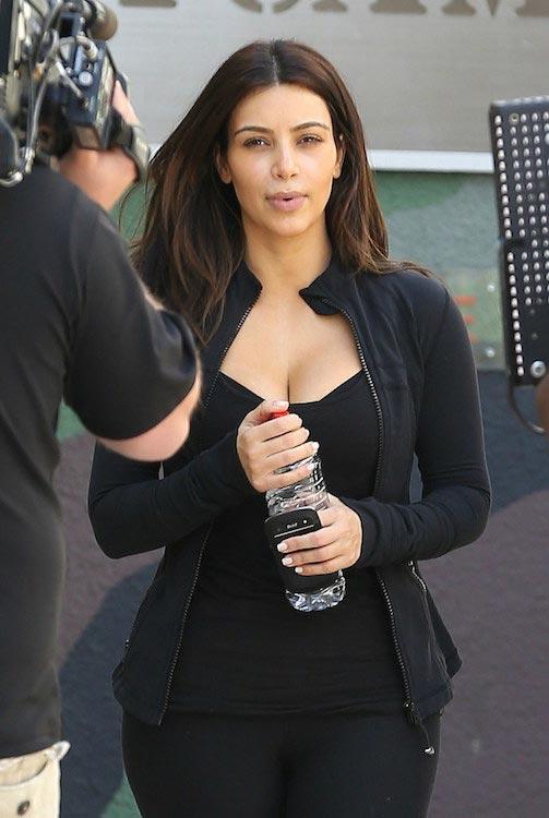 Kim Kardashian heading to the gym