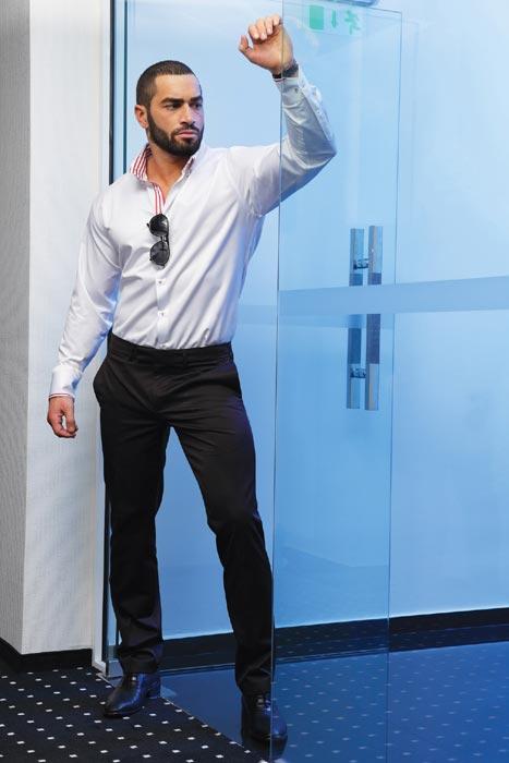 Lazar Angelov posing for Frant Ltd Men's Fashion in 2013