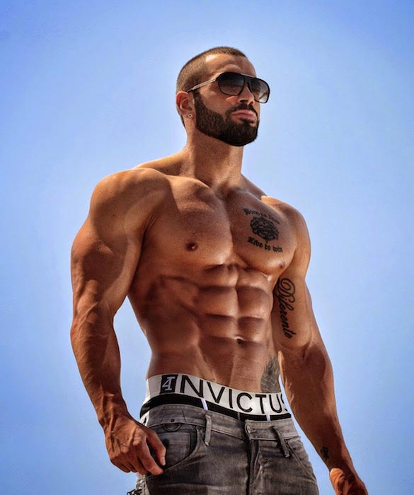 Lazar Angelov during a photoshoot for 4Invictus in 2014