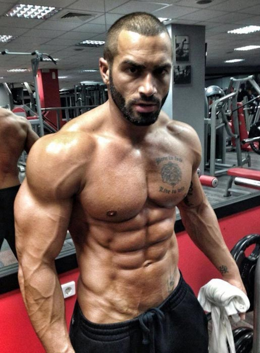 Lazar Angelov after a training session in 2014