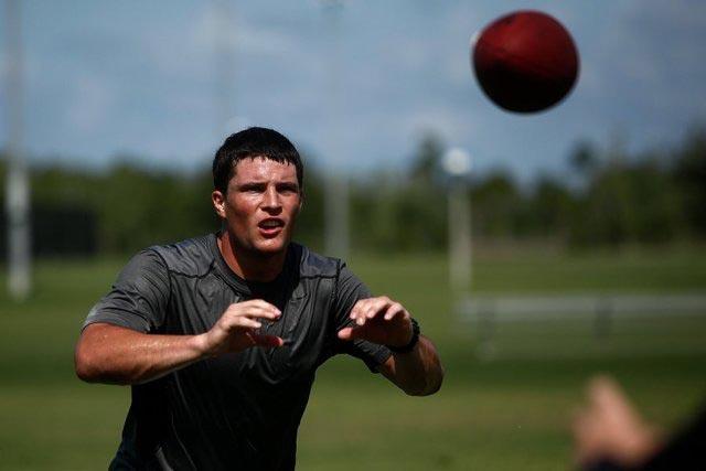 Luke Kuechly training