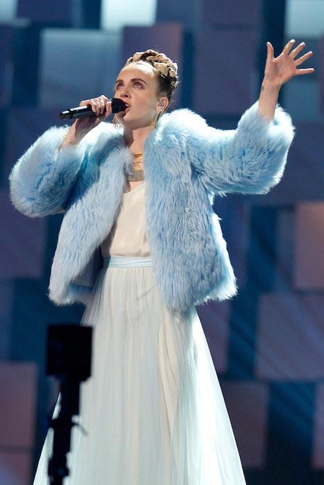 MØ sings during Nobel Peace Prize concert on December 11, 2015 in Oslo, Norway