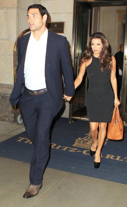 Mark Sanchez with Eva Longoria