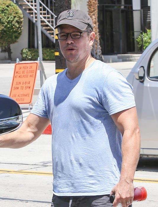 Matt Damon after a gym session