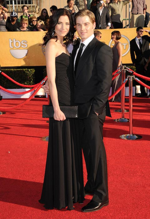Mike Vogel and wife Courtney Vogel at the Screen Actors Guild Awards 2012