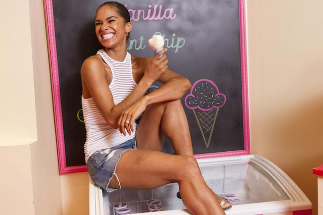 Misty Copeland enjoying her ice cream