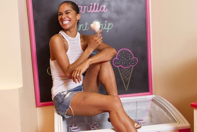 Misty Copeland enjoying her ice cream