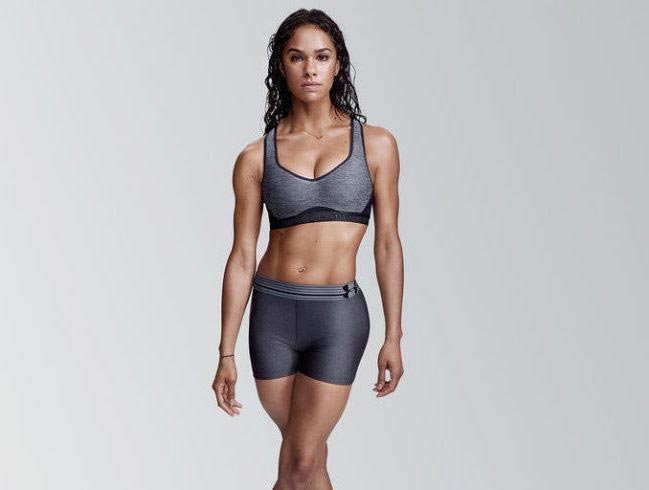 Misty Copeland in her workout gear