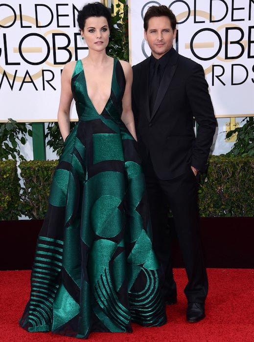 Peter Facinelli and his former fiancee Jaimie Alexander at the Golden Globes After Party on January 10, 2016