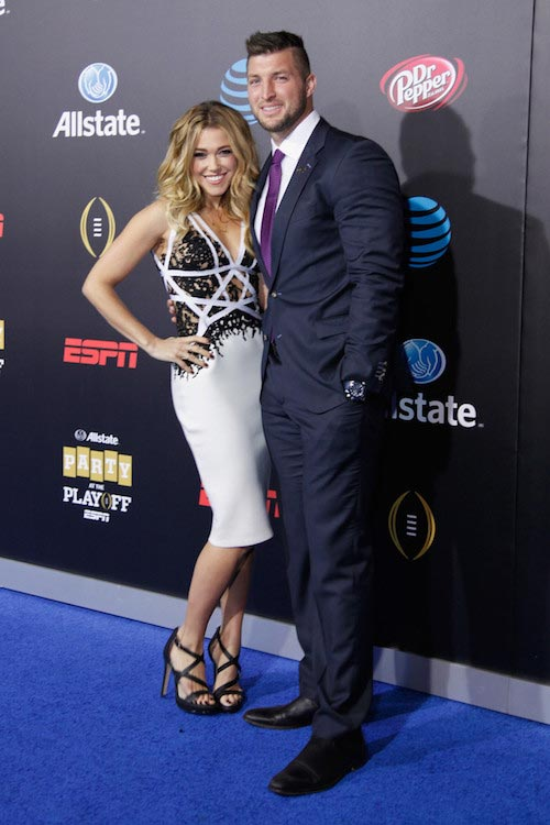 Rachel Platten and Tim Tebow during the Allstate Party 2016