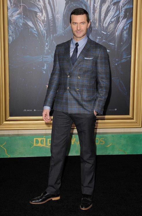"Richard Armitage on the premiere of ""The Hobbit of the Five Armies"" in Hollywood in 2014"