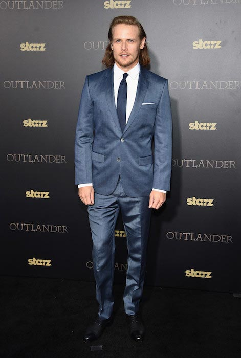 "Sam Heughan on the mid-season premiere of ""Outlander"" in New York on April 1, 2015"
