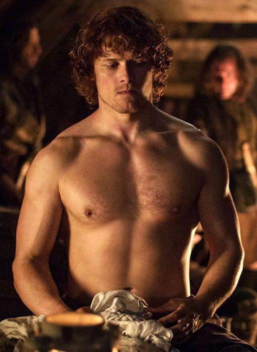 Sam Heughan shirtless body