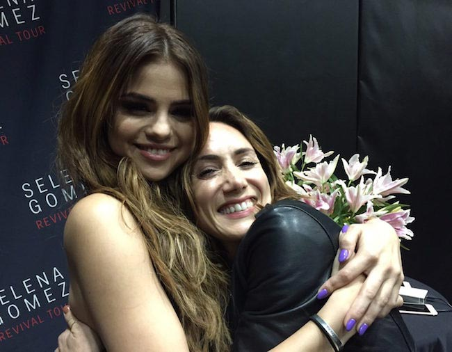 Selena Gomez with her trainer