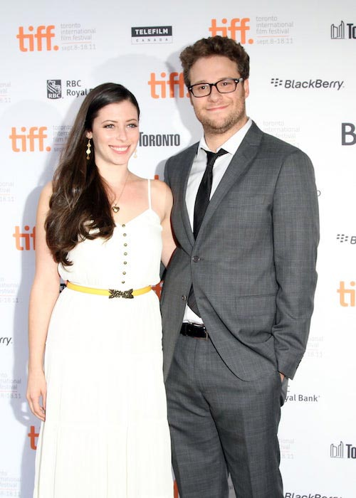 Seth Rogen and Lauren Miller at Toronto International Film Festival in September 2011