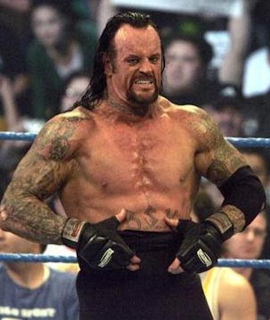 The Undertaker shirtless body