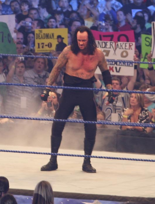 The Undertaker during a wrestling match