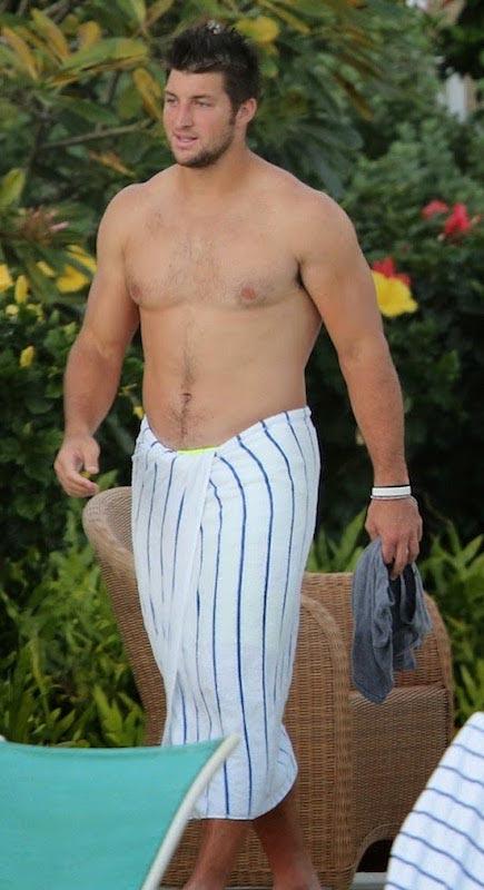 Tim Tebow shirtless body