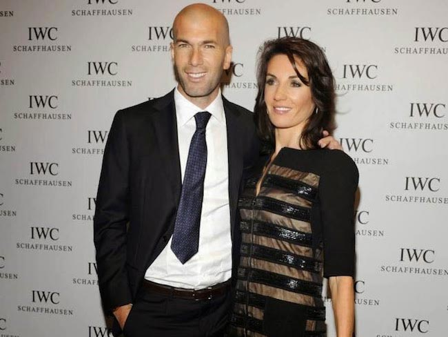 Zinedine Zidane and Veronique Zidane