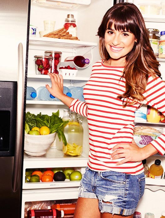 A look at Lea Michele's fridge