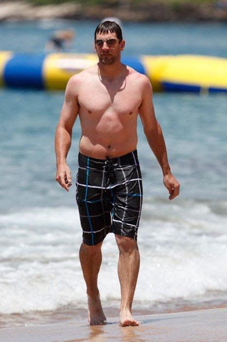 Aaron Rodgers shirtless body