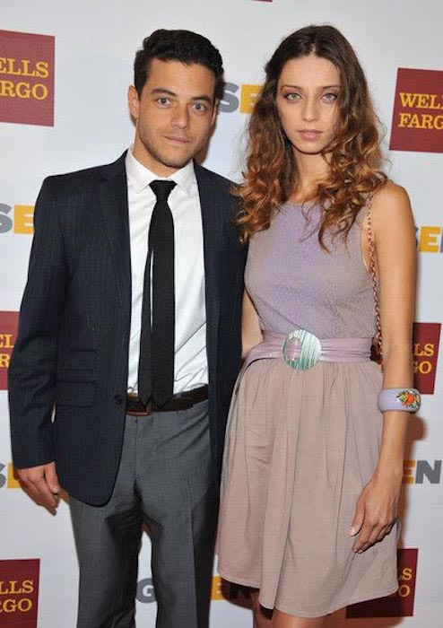 Angela Sarafyan and Rami Malek