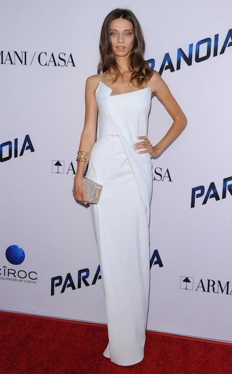 "Angela Sarafyan attends the premiere of ""Paranoia"" on August 8, 2013 in LA"