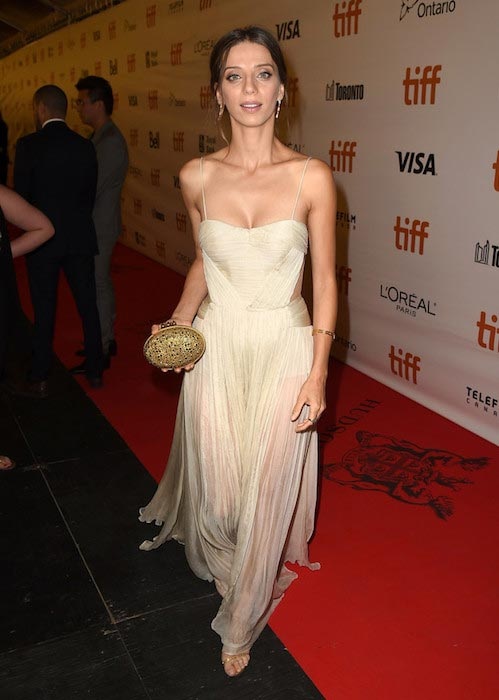 Angela Sarafyan during the premiere of The Promise at 2016 Toronto Film Festival on September 11