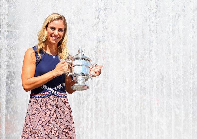 Angelique Kerber 2016 US Open Women's Singles trophy New York