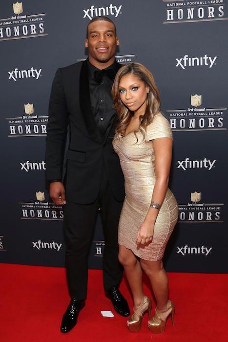 Cam Newton and Shakia Proctor