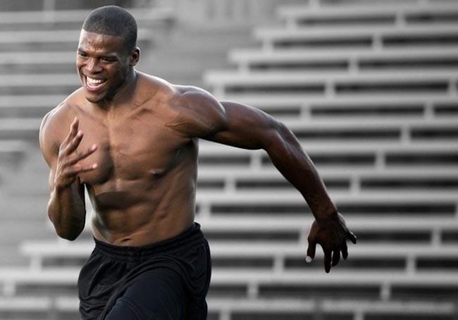 Cam Newton muscular body
