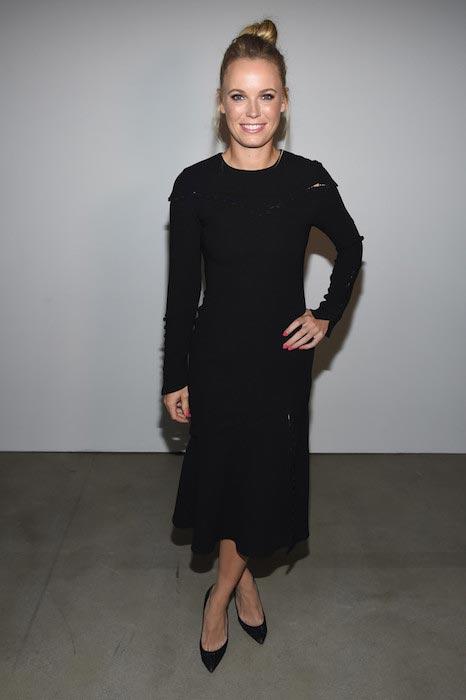Caroline Wozniacki at the Prabal Gurung fashion show on September 11, 2016