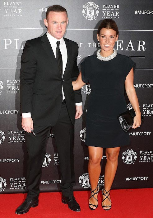 Coleen Rooney and husband Wayne Rooney Manchester United Player of the Year awards May 2016
