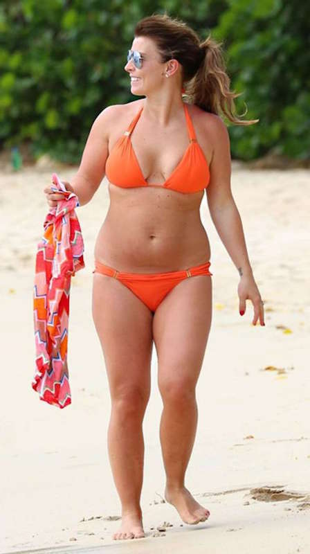 Coleen Rooney in orange bikini in 2016