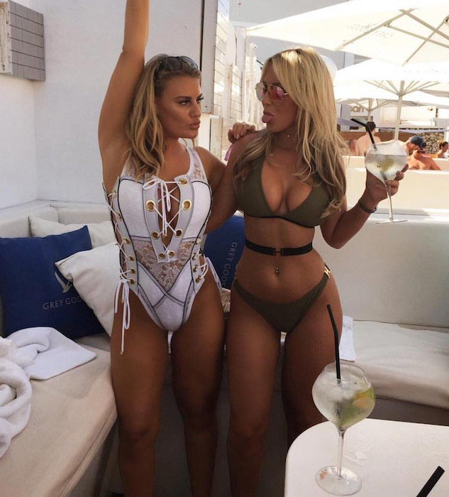 Danielle Armstrong and Kate Wright in Ibiza on August 21, 2016
