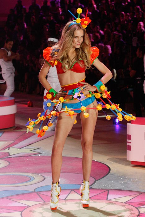 Dorothea Barth Jorgensen during Victoria's secret fashion show 2012