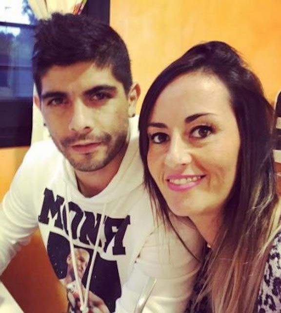 Ever Banega and Valeria Juan